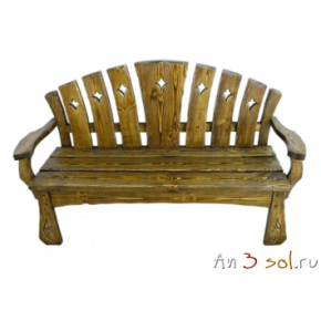 Скамья со спинкой СКАНДИНАВСКАЯ СКАЗКА, массив сосны