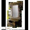 Зеркало с ящиком СКАНДИНАВСКАЯ СКАЗКА, 120 см х 80 см, массив сосны