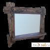 Зеркало с полкой СКАНДИНАВСКАЯ СКАЗКА, 110 см х 105 см, массив сосны