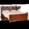 Кровать КАРОЛЛА, массив берёзы, ширина 900