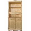 Шкаф для посуды двухдверный КАНТРИ с двумя ящиками, массив сосны
