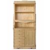 Шкаф для посуды двухдверный КАНТРИ с пятью ящиками, массив сосны