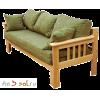 Диван-кровать КАНАДА трехместный, массив сосны