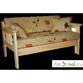 Диван-кровать КАНАДА двухместный, массив сосны