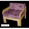 Кресло-кровать ФЛОРА, массив сосны