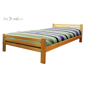 Кровать АЛЕНА, массив сосны, ширина 1200