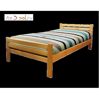 Кровать АЛЕНА, массив сосны, ширина 900