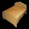 Кровать КАНТРИ, массив сосны, ширина 900