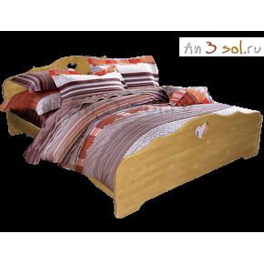 Кровать КАНТРИ, массив сосны, ширина 1200