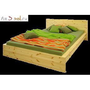 Кровать ПЛАТО, массив сосны, ширина 1400