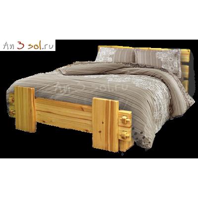Кровать СКАНДИНАВИЯ, массив сосны, ширина 1600
