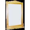 Полка с зеркалом 501, 100 см х 60 см, массив сосны