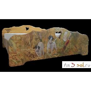 Кровать расписная ОХОТА, ширина от 900