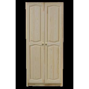 Шкаф КЛАССИКА двухдверный комбинированный, массив сосны
