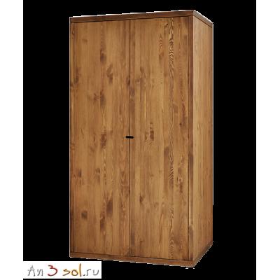 Шкаф ПЛАТО двухдверный, массив сосны