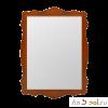 Зеркало в фигурной раме ЮТА-04-11, 101 см х 74 см, массив берёзы